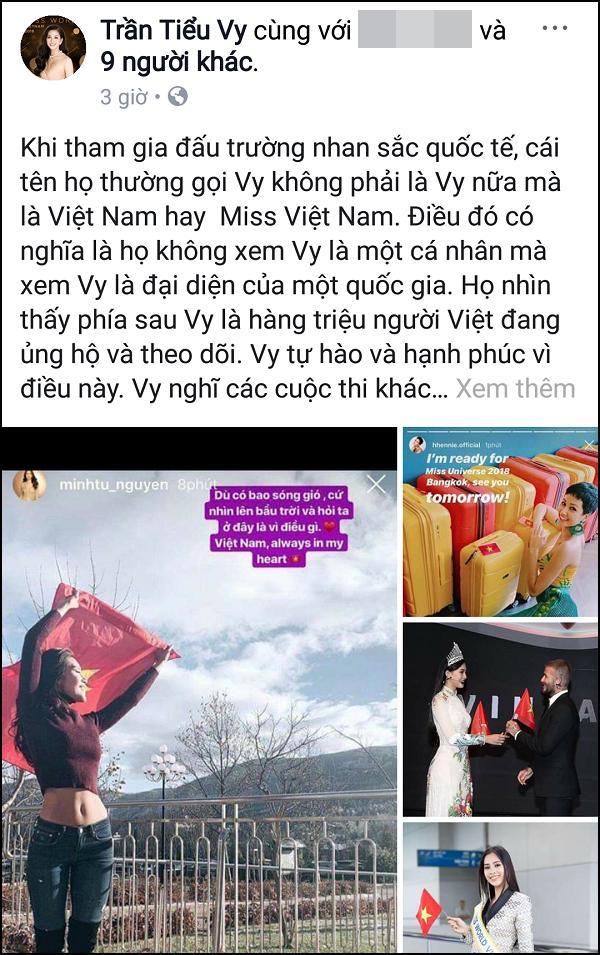 Đang tối mắt vì thi cử, Tiểu Vy vẫn động viên Minh Tú giữa bão thị phi và gửi lời chúc HHen Niê chiến thắng-2