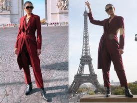 Á hậu Trương Thị May hào hứng khám phá nước Pháp xinh đẹp