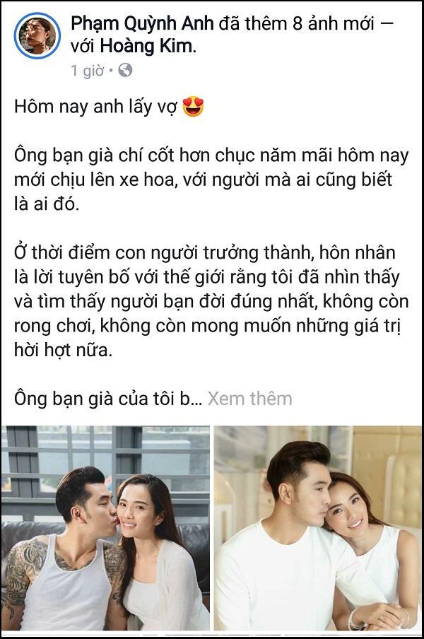 Tâm thư xúc động Phạm Quỳnh Anh viết trước giờ đám cưới Ưng Hoàng Phúc - Kim Cương-1