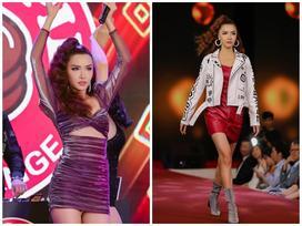 'Drama queen' Bích Phương chân dài miên man lần đầu hát live 'Chị ngả em nâng'