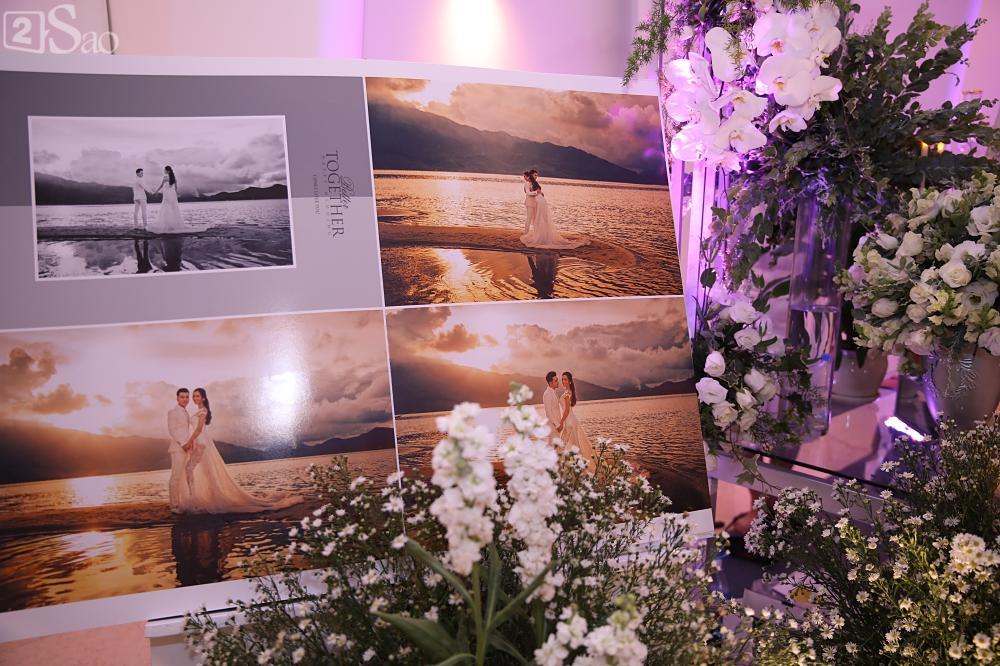 Không gian tiệc cưới vô cùng sang trọng trước giờ G-1