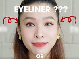 Cách vẽ eyeliner chuẩn không cần chỉnh cho các cô gái mắt không cân, mắt lồi hoặc mí lót