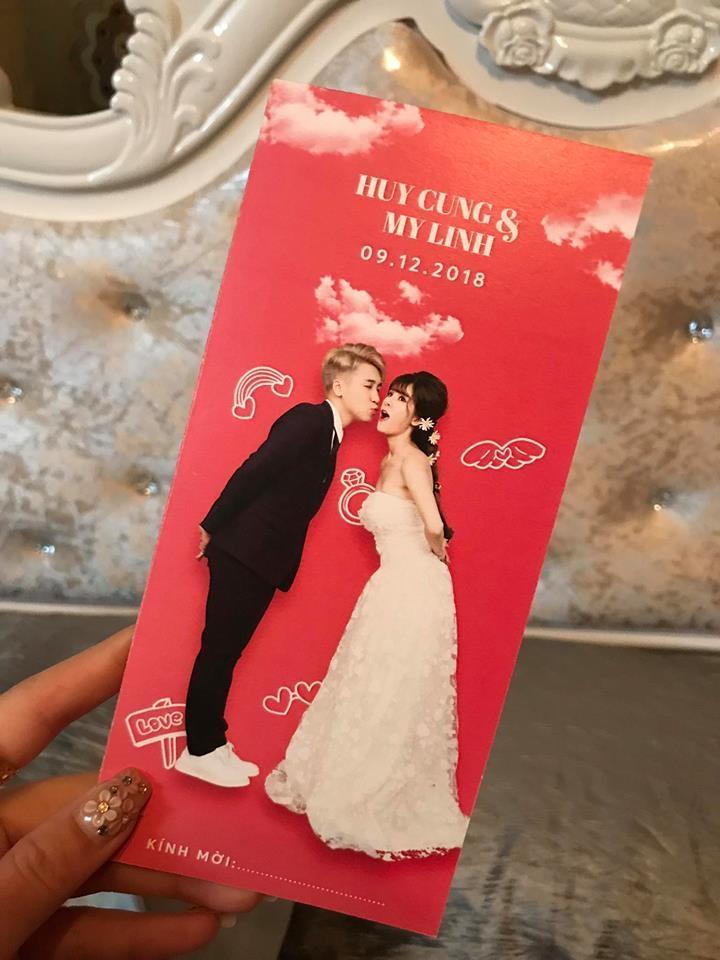 Lộ thiệp mời cưới chất hơn nước cất của vlogger Huy Cung và cô dâu hotgirl-2