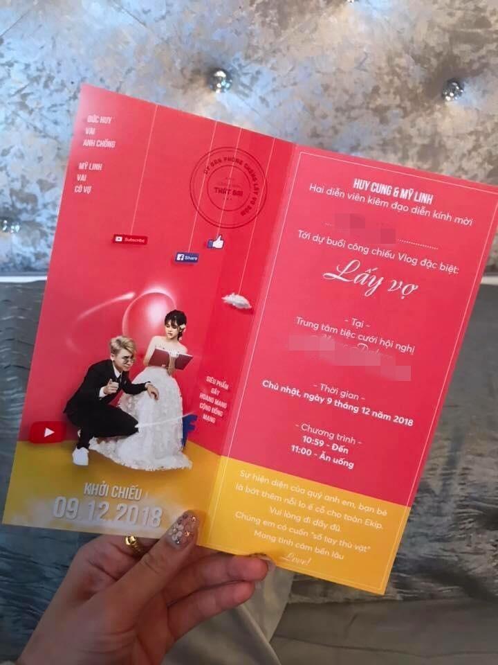 Lộ thiệp mời cưới chất hơn nước cất của vlogger Huy Cung và cô dâu hotgirl-3