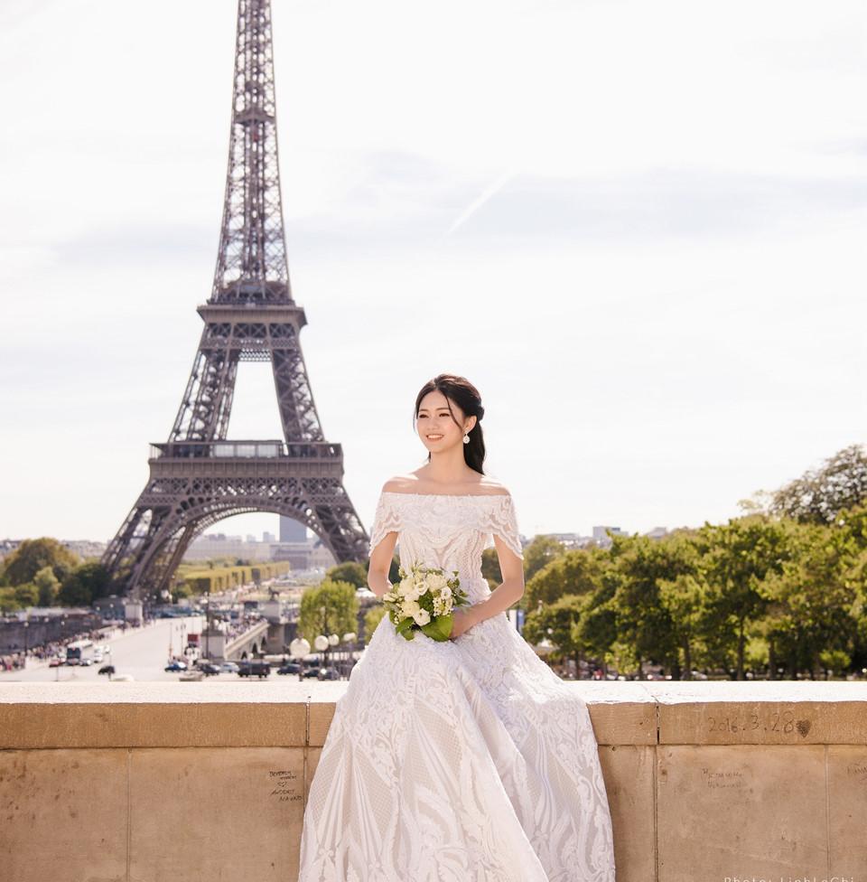 Ảnh cưới ở Pháp của Á hậu Thanh Tú và chú rể CEO-3