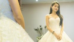 Lộ ảnh mặc váy cưới gây sốt của Á hậu Huyền My giữa nghi án chia tay thiếu gia đình đám Hà thành