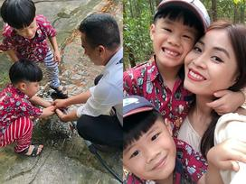Như chưa từng hờn dỗi, BTV Hoàng Linh chia sẻ ảnh hôn phu chăm sóc 2 con trai chẳng khác nào ruột thịt