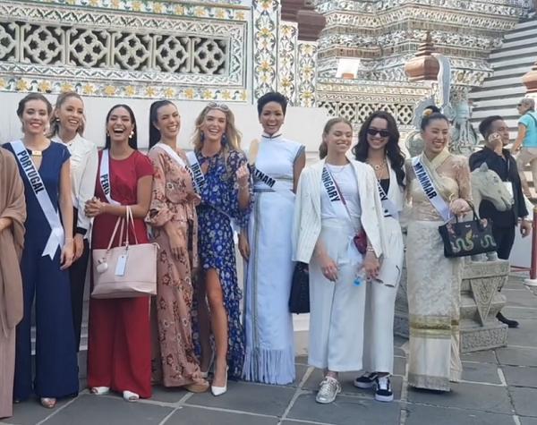Bắn tiếng Thái khiến người dân phát cuồng, HHen Niê nổi bần bật giữa dàn mỹ nhân Miss Universe 2018-3