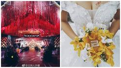 Khi cô dâu chú rể cuồng BigBang, hôn trường trang trí đỏ rực và lightstick làm hoa cưới như thế này!