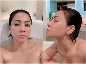Trút bỏ xiêm y, 'mẹ bỉm sữa' Thu Minh chụp ảnh 'tự sướng' khoe dáng nuột mê hồn