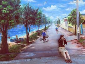 Check- in ngôi làng bích họa đẹp mộng mơ ở Quảng Bình
