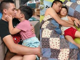Những tấm ảnh ngọt ngào 'đánh bay' khoảng cách bố dượng - con riêng của hôn phu BTV Hoàng Linh
