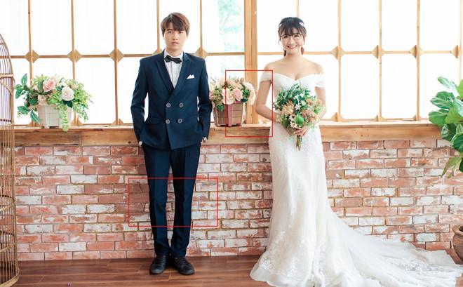 Studio làm ảnh không có tâm, cô dâu nhanh trí tự vẽ ảnh cưới khiến hôn lễ độc đáo ngoài sức tưởng tượng-1