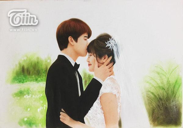 Studio làm ảnh không có tâm, cô dâu nhanh trí tự vẽ ảnh cưới khiến hôn lễ độc đáo ngoài sức tưởng tượng-3