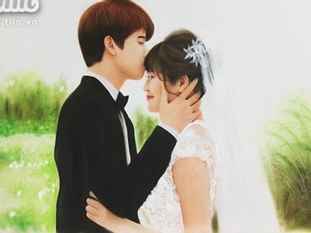 Studio làm ảnh không có tâm, cô dâu nhanh trí tự vẽ ảnh cưới khiến hôn lễ độc đáo ngoài sức tưởng tượng
