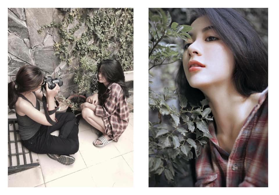 Cô nàng đi dép lê, ngồi bụi cây, chụp ảnh tự sướng vẫn xinh đẹp bất chấp-1