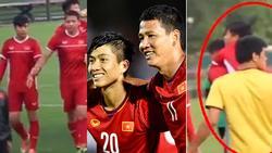 Hết nắm tay lại còn cõng nhau, đội tuyển Việt Nam lại xuất hiện cặp đam mỹ chú cháu mang tên 'Song Đức'