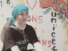 'Nàng cỏ' Goo Hye Sun xinh đẹp và giản dị đi làm từ thiện ở trời Âu