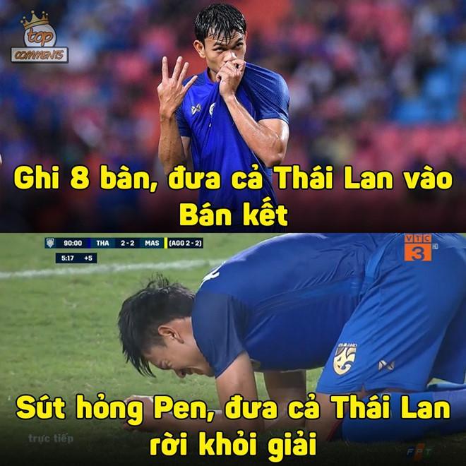 Ảnh chế tạm biệt Thái Lan và pha penalty lên trời để né Việt Nam-4