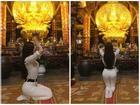 Đăng loạt ảnh đi chùa sám hối mà chẳng khác nào tập yoga, Thư Dung bị cộng đồng mạng 'ném đá' đến nỗi phải gỡ status
