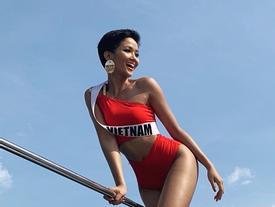 Cuối cùng H'Hen Niê cũng chịu mặc bikini khoe thân hình cực phẩm tại Miss Universe 2018