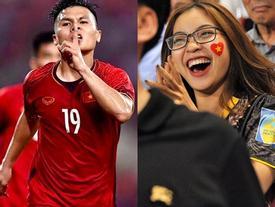 Quang Hải phản ứng ra sao khi khoảnh khắc ăn mừng cực sung của bạn gái lan truyền chóng mặt?