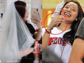 Bạn gái hết đội khăn voan cô dâu lại đeo nhẫn kim cương, Bùi Tiến Dũng bị nghi ngờ sắp 'theo vợ bỏ cuộc chơi'