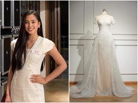 Lộ diện chiếc đầm trắng tinh khôi được Tiểu Vy mặc trong đêm chung kết Miss World 2018