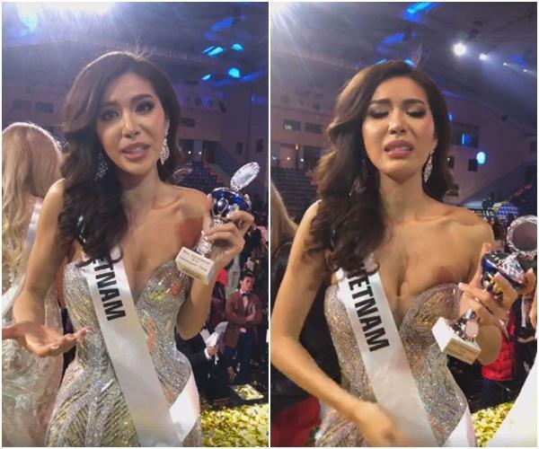 Trượt top 5 Hoa hậu Siêu quốc gia, Minh Tú nghẹn ngào khóc: Xin lỗi, tôi đã cố hết sức rồi-3