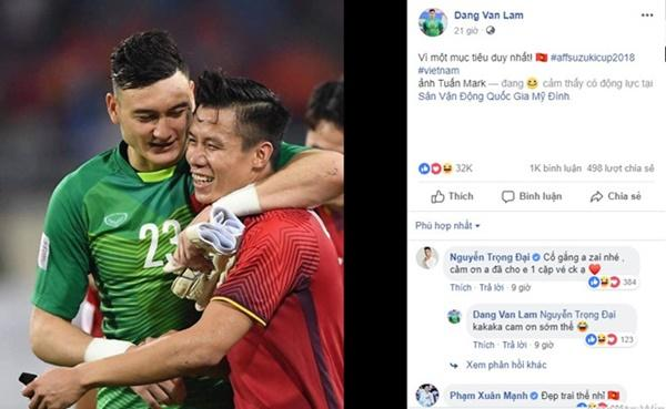 Trọng Đại gây cười với màn xin các cầu thủ tuyển Việt Nam vé xem chung kết-1