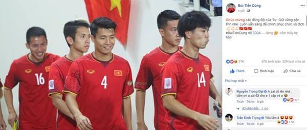 Trọng Đại gây cười với màn xin các cầu thủ tuyển Việt Nam vé xem chung kết-2