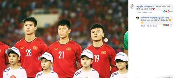 Trọng Đại gây cười với màn xin các cầu thủ tuyển Việt Nam vé xem chung kết-3