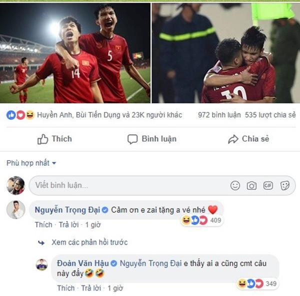 Trọng Đại gây cười với màn xin các cầu thủ tuyển Việt Nam vé xem chung kết-5