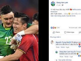 Trọng Đại gây cười với màn xin các cầu thủ tuyển Việt Nam vé xem chung kết