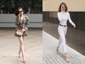 Học sao Việt cách 'kéo dài' đôi chân như siêu mẫu với tủ quần áo sẵn có trong mùa đông giá lạnh