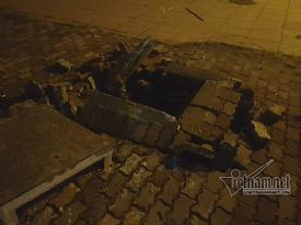 Hà Nội: Nổ trên vỉa hè đường Phạm Hùng, 3 người nhập viện