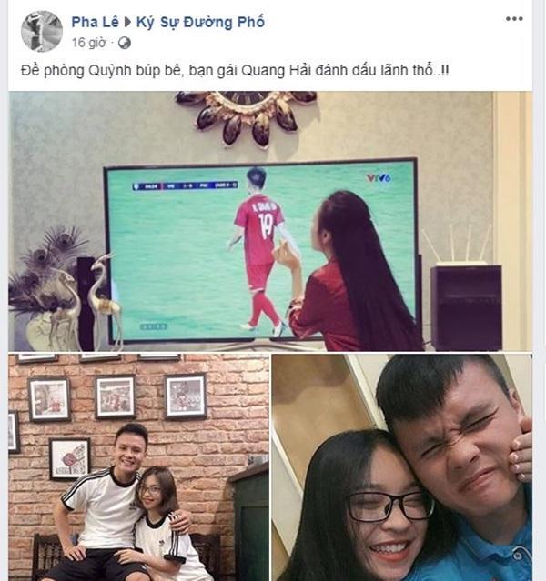Quỳnh Búp Bê bất ngờ thả thính Quang Hải, bạn gái hotgirl ra chiêu độc khiến người xem gật gù cao tay-3