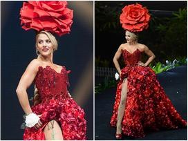 Diện quốc phục hoa hồng, 'Sarah Hồng Hạ' giới thiệu tên mình quá đặc sắc tại Miss Universe 2018