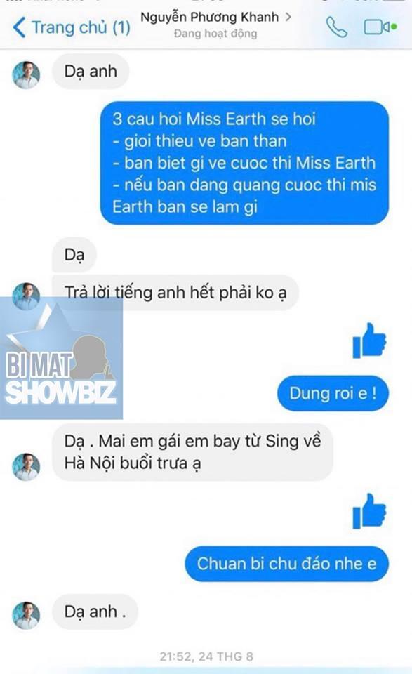 SHOCK: Lộ tin nhắn Hoa hậu Trái đất 2018 Phương Khánh chưa thi đã nắm chắc vương miện nhờ núi tiền đi trước-2