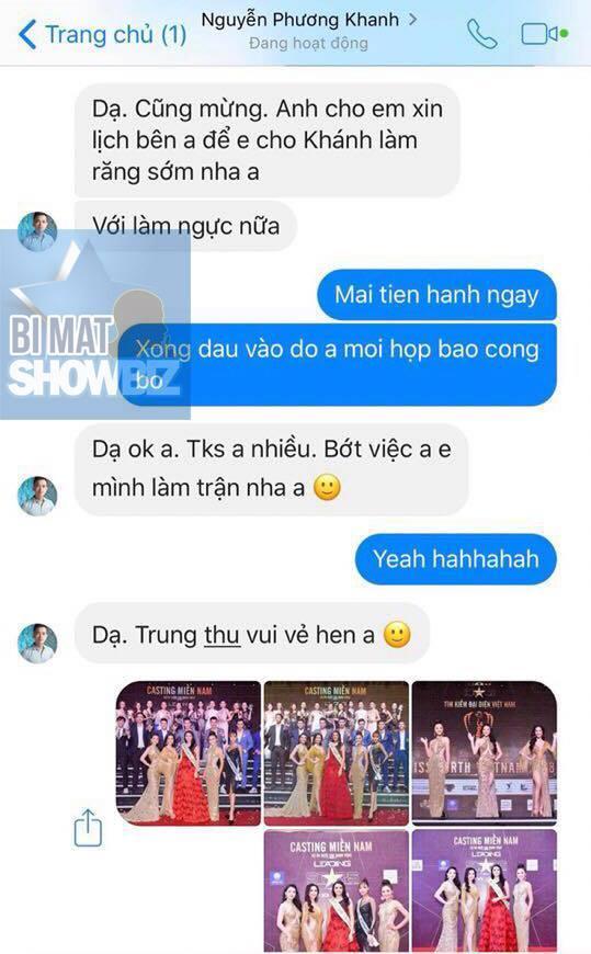 SHOCK: Lộ tin nhắn Hoa hậu Trái đất 2018 Phương Khánh chưa thi đã nắm chắc vương miện nhờ núi tiền đi trước-3