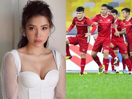 Phương Trinh Jolie hô hào mọi người xuống đường 'đi bão' vì đội tuyển bóng đá Việt Nam