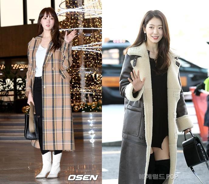 Park Shin Hye và Lee Sung Kyung đọ sắc tại sân bay-1
