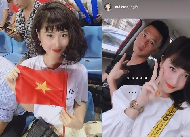 Bạn gái tin đồn của thủ môn Lâm Tây nói lời yêu, cổ vũ bằng tiếng Nga-1