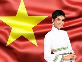 H'Hen Niê đích thị là cổ động viên cuồng nhiệt của Đội tuyển Việt Nam