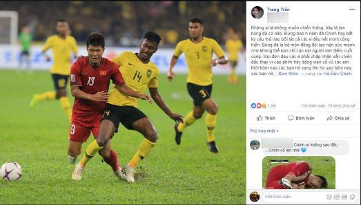 Hà Đức Chinh bị chỉ trích quả tạ, chân gỗ, Trang Trần yêu cầu Hãy là fans bóng đá có não-2