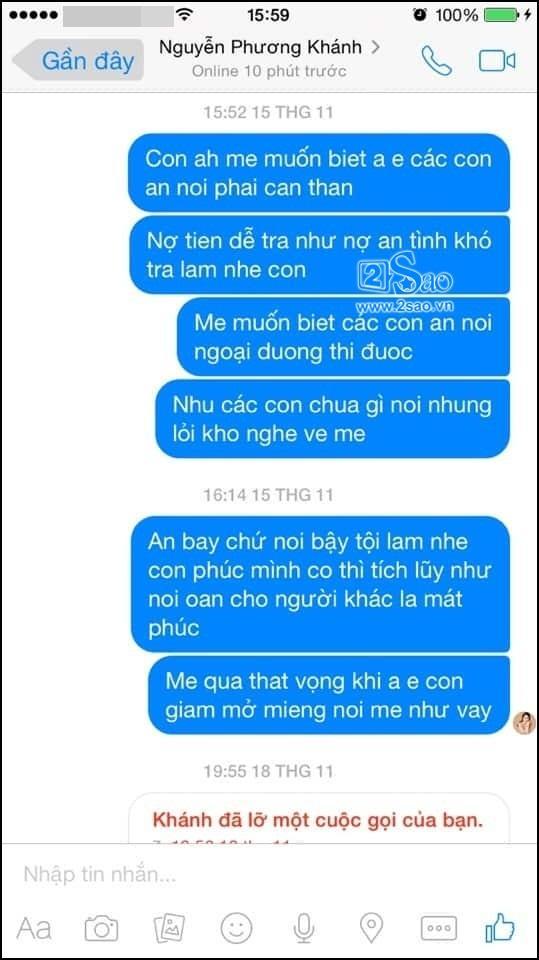 Ông bầu Trần Kiệt dọa tung ghi âm bác sĩ Chiêm Quốc Thái thú nhận Quá yêu Phương Khánh nên ghen tuông bất chấp-7