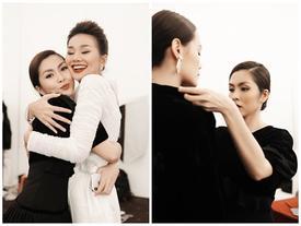 Tỷ muội Thanh Hằng - Hà Tăng ôm nhau thắm thiết khi Tăng Thanh Hà xuất hiện với vai trò mới