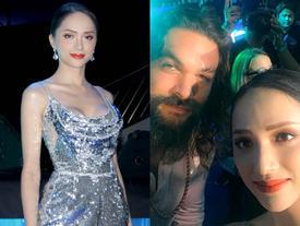 Hoa hậu Hương Giang khiến fans  ghen tị vì quá thân thiết với siêu anh hùng Aquaman