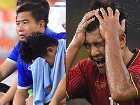 Hình ảnh không lên sóng nhưng hot nhất sau trận đối đầu Malaysia: Đức Chinh bật khóc rời sân khi thay người
