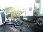 Xe container nổ lốp 'càn quét' trên đường, 12 người nhập viện